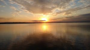 La puesta de sol en la Albufera de Valencia